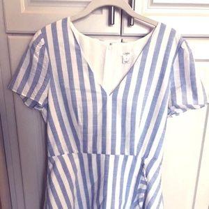 J. Crew Striped Faux-Wrap Dress
